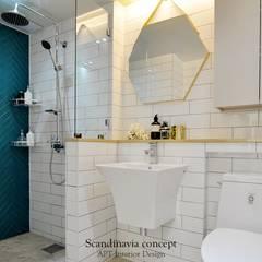 우만동 월드메르디앙 39평: JMdesign 의 translation missing: kr.style.욕실.industrial 욕실
