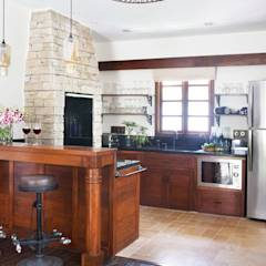 Residential - Juhu: rustic Kitchen by Nitido Interior design