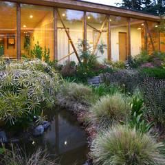 Biological Medical Center Garden: Jardines de estilo moderno por Vientos Arquitectura