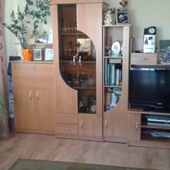 metamorfoza (salon kuchnia) 30m2 Lublin: styl translation missing: pl.style.salon.minimalistyczny, w kategorii Salon zaprojektowany przez Auraprojekt
