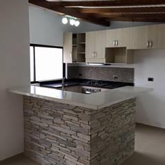 Barra de la cocina: Cocinas de estilo moderno por ALSE Taller de Arquitectura y Diseño