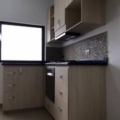 Detalles de muebles de la cocina: Cocinas de estilo moderno por ALSE Taller de Arquitectura y Diseño