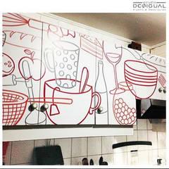 Muebles de Cocina: Cocinas de estilo minimalista por Estudio Desigual