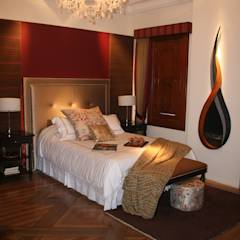 Dormitorio Urubamaba: Cuartos de estilo rústico por Carughi Studio