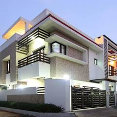 Exterior: modern Houses by Ansari Architects