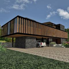 Casa Los Pinos: Casas de estilo moderno por Vibra Arquitectura