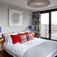 Gloucester Road Penthouse: modern Bedroom by Bhavin Taylor Design