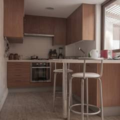 vivienda + taller : Cocinas de estilo moderno por PARQ Arquitectura