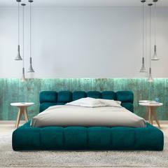 Park apartment: Спальни в translation missing: ru.style.Спальни.loft. Автор - IQOSA