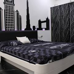 Duplex at Indore: asian Bedroom by Shadab Anwari & Associates.