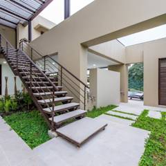 Casa Loma: Jardines de estilo minimalista por David Macias - Arquitectura & Urbanismo