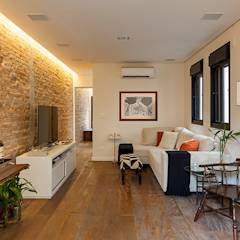 Salas multimedias de estilo translation missing: cl.style.salas-multimedias.eclectico por Tria Arquitetura
