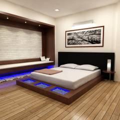 Dormitorios de estilo asiático por Shadab Anwari & Associates.
