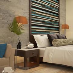 Bed headboard: asian Bedroom by Vaibhav Patel & Associates
