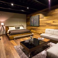 Casa Bunker : Recámaras de estilo moderno por Con Contenedores S.A. de C.V.