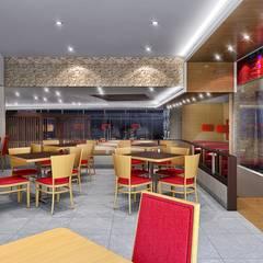 PIZZA HUT TRUJILLO: Comedores de estilo moderno por ARKILINEA