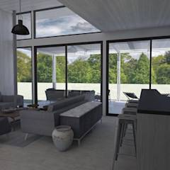 Casa BIG house modelo La Niña: Livings de estilo moderno por Inmobiliaria BIG house