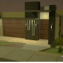 Fachadas Okarq vista de noche: Casas de estilo moderno por Okarq