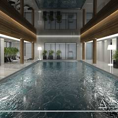 Basen w prywatnym domu: styl translation missing: pl.style.basen.nowoczesny, w kategorii Basen zaprojektowany przez All Design- Aleksandra Lepka
