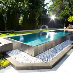 Berndorf Bäderbau Stainless Steel Private Pool (Bavaria, Germany): modern Pool by London Swimming Pool Company
