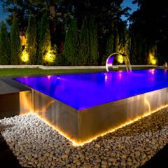 Berndorf Bäderbau Stainless Steel Private Pool (Germany Bavaria) : modern Pool by London Swimming Pool Company