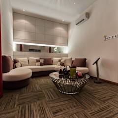 Majestic Contemporary | BUNGALOW : minimalistic Media room by Design Spirits