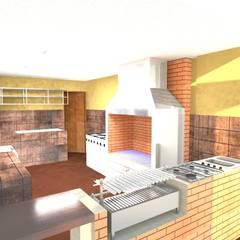 REMODELACION DE RESTAURANTE : Comedores de estilo moderno por BIANGULO DISEÑO Y CONSTRUCCION S.A.C.