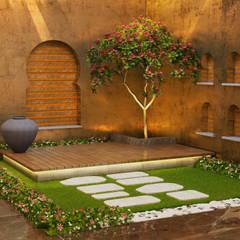 Bungalow at Undri: modern Garden by Space Craft Associates