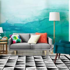 Ombre: scandinavian Living room by Pixers