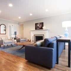 Living Room Update: modern Living room by RedBird ReDesign