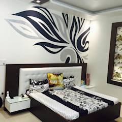Residence interiors: modern Bedroom by Akaar architects
