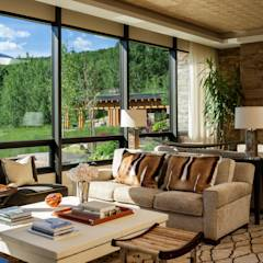 Vail Valley Retreat: eclectic Living room by Andrea Schumacher Interiors