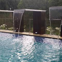 Landscaping Project: modern Pool by Liquid Landscapes