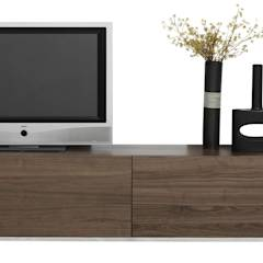 MODELO 1B  - MUEBLE MODULAR -  HOME THEATER: Cuartos de estilo minimalista por 3 DECO