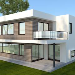 : minimalistic Houses by FASTSTEEL / ARQvision Sustainable Architecture