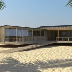Club house de playa: Casas de estilo moderno por Nicolás Bello