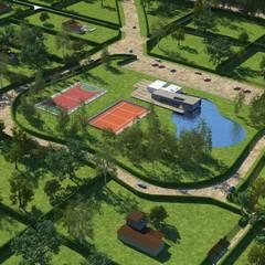 Casas de campo: Casas de estilo moderno por Nicolás Bello
