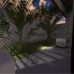 León House: Jardines de estilo moderno por Guayoyo ArqStudio
