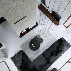 Projekt domu HomeKONCEPT-13- wnętrze: styl translation missing: pl.style.salon.nowoczesny, w kategorii Salon zaprojektowany przez HomeKONCEPT | Projekty Domów Nowoczesnych