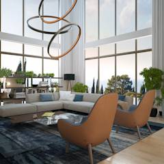 modern Living room by VITTA-GROUP