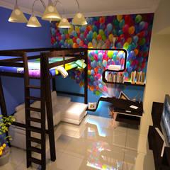 العبور: translation missing: eg.style.غرفة-الاطفال.modern غرفة الاطفال تنفيذ Reda Essam