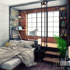 industrial Bedroom by Студия дизайна интерьера 'REDESIGN'