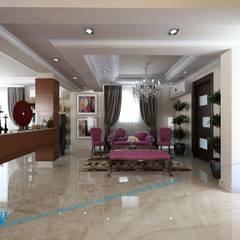 Ground Floor: translation missing: eg.style.غرفة-المعيشة.modern غرفة المعيشة تنفيذ triangle