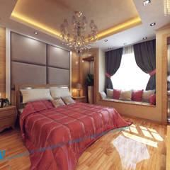 Ground Floor: translation missing: eg.style.غرفة-نوم.modern غرفة نوم تنفيذ triangle