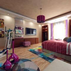 first floor: translation missing: eg.style.غرفة-نوم.modern غرفة نوم تنفيذ triangle
