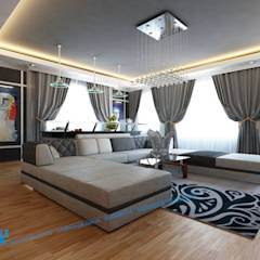 first floor: translation missing: eg.style.غرفة-المعيشة.minimalist غرفة المعيشة تنفيذ triangle