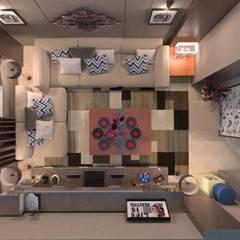 Apartment : translation missing: eg.style.غرفة-المعيشة.classic غرفة المعيشة تنفيذ Taghred elmasry