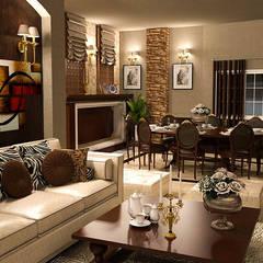 Apartment : translation missing: eg.style.غرفة-السفرة.classic غرفة السفرة تنفيذ Taghred elmasry