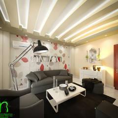 Living room: translation missing: eg.style.غرفة-المعيشة.modern غرفة المعيشة تنفيذ EL Mazen of Finishes and Trims