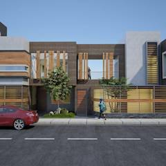 vivienda bifamiliar: Casas de estilo moderno por diseñointegral sac